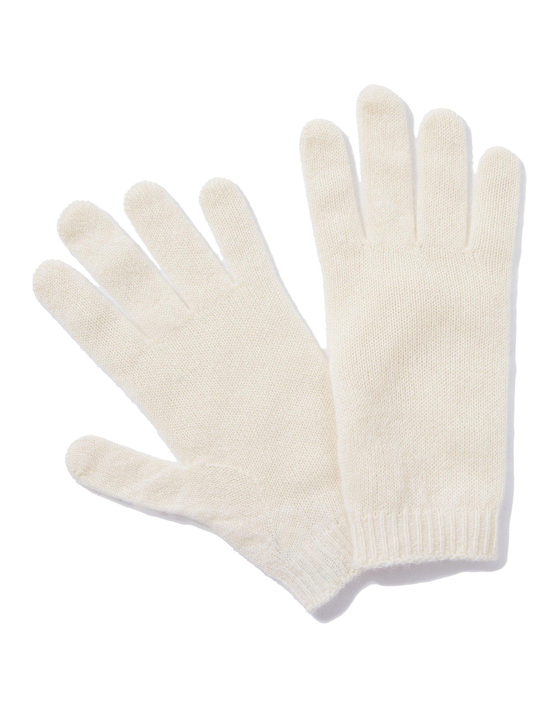 ПерчаткиПерчатки<br>Женские перчатки из пушистого кашемирового трикотажа. Эластичные манжеты. Универсальный размер.<br>Цвет: Белый; Размер: OS;