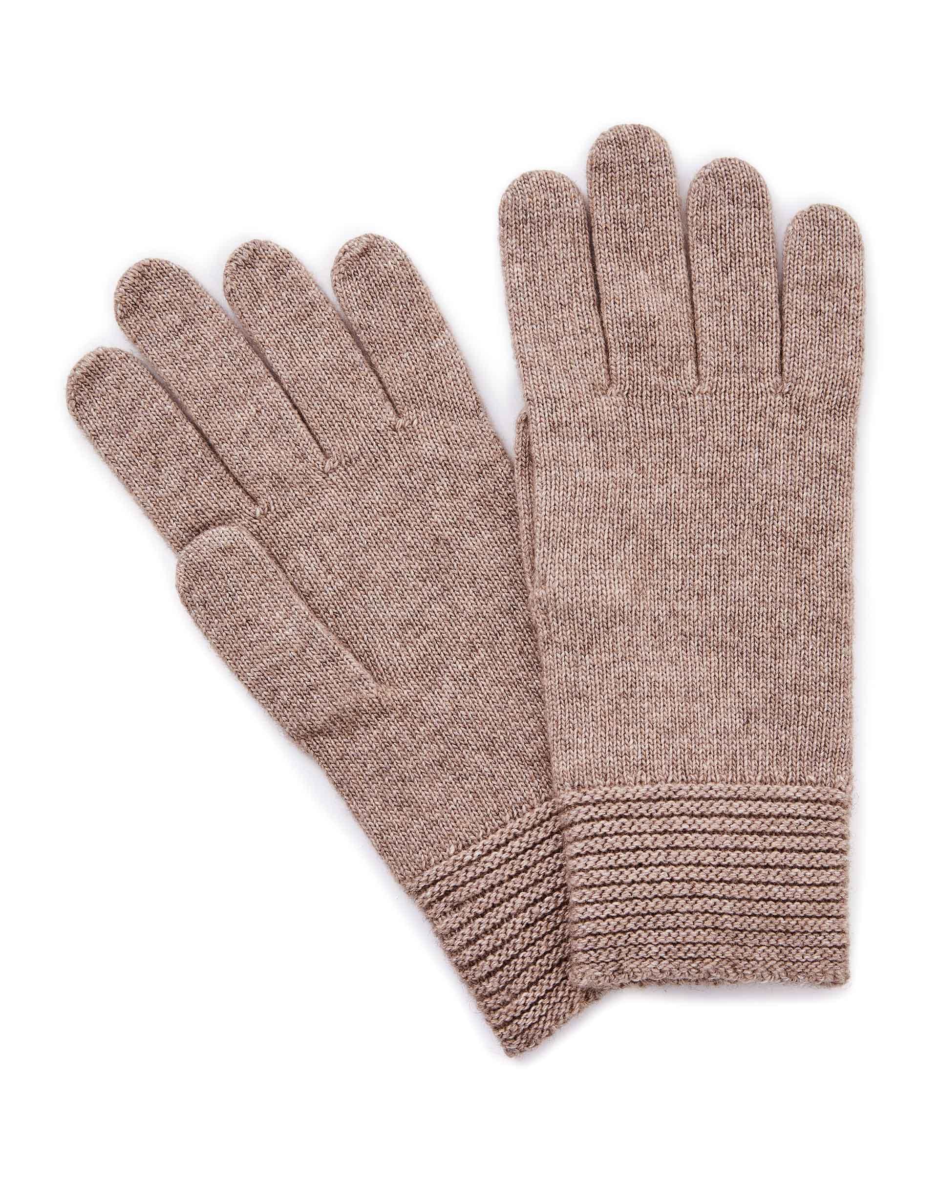 ПерчаткиПерчатки<br>Женские перчатки из полушерстяной пряжи. Высокие эластичные манжеты. Универсальный размер.<br>Цвет: Бежевый; Размер: OS;
