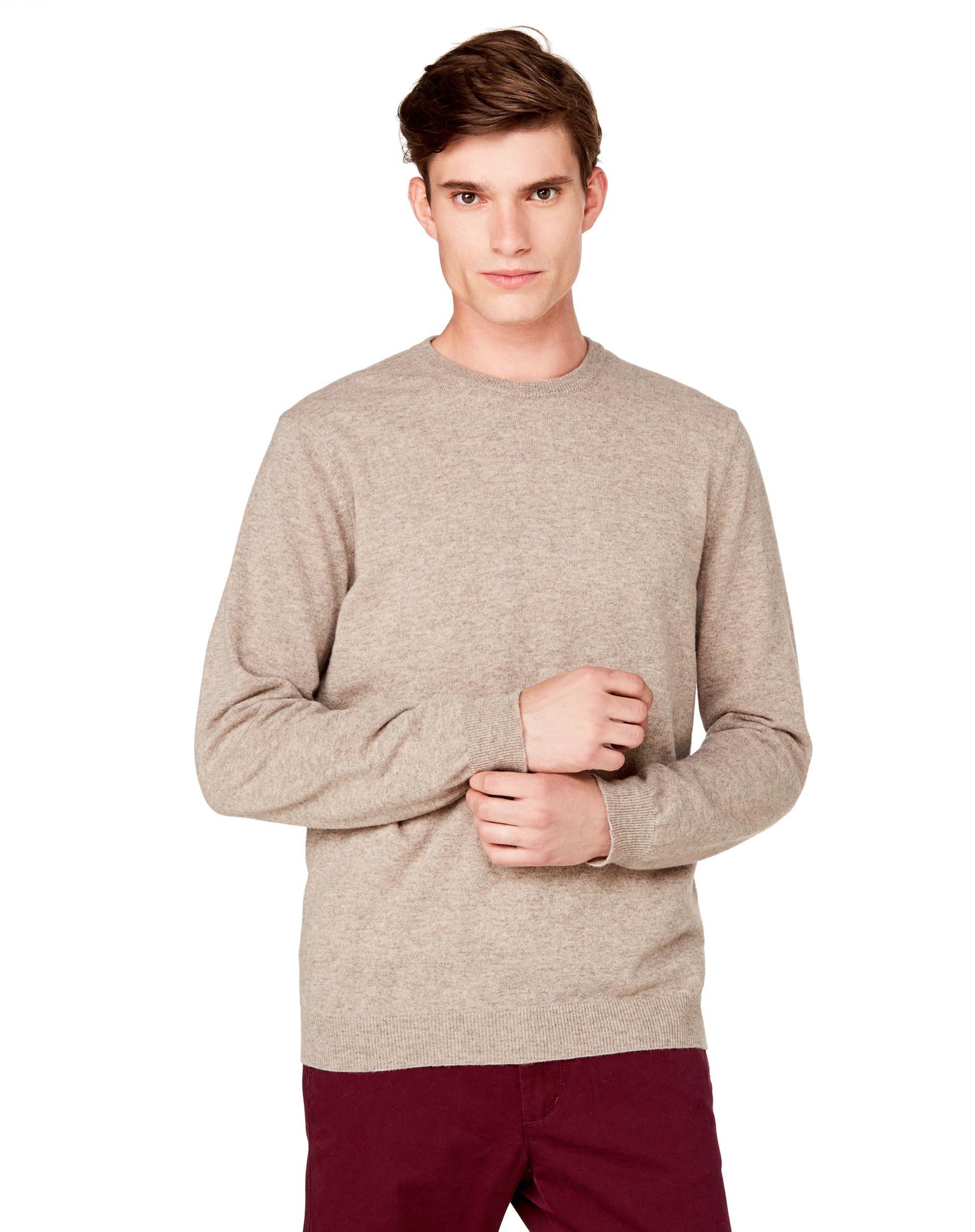 ДжемперДжемперы<br>Джемпер с длинным рукавом и круглым вырезом из 100% шерсти. Мягкий на ощупь и обладающий превосходной теплозащитой. Регулярный силуэт.<br>Цвет: Бежевый; Размер: S;