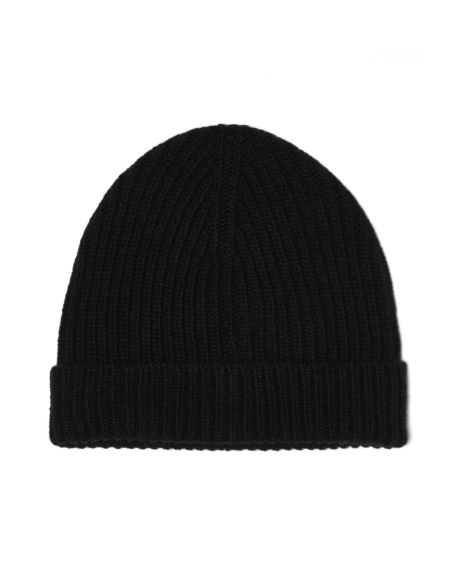 ШапкаГоловные уборы<br>Вязаная шапка из 100% шерсти мериноса. Мягкая на ощупь и обладающая превосходной теплозащитой.<br>Цвет: Черный; Размер: S;