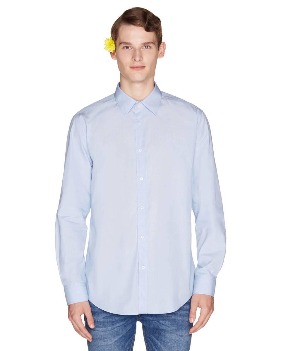 Рубашка из 100% хлопка, Голубой