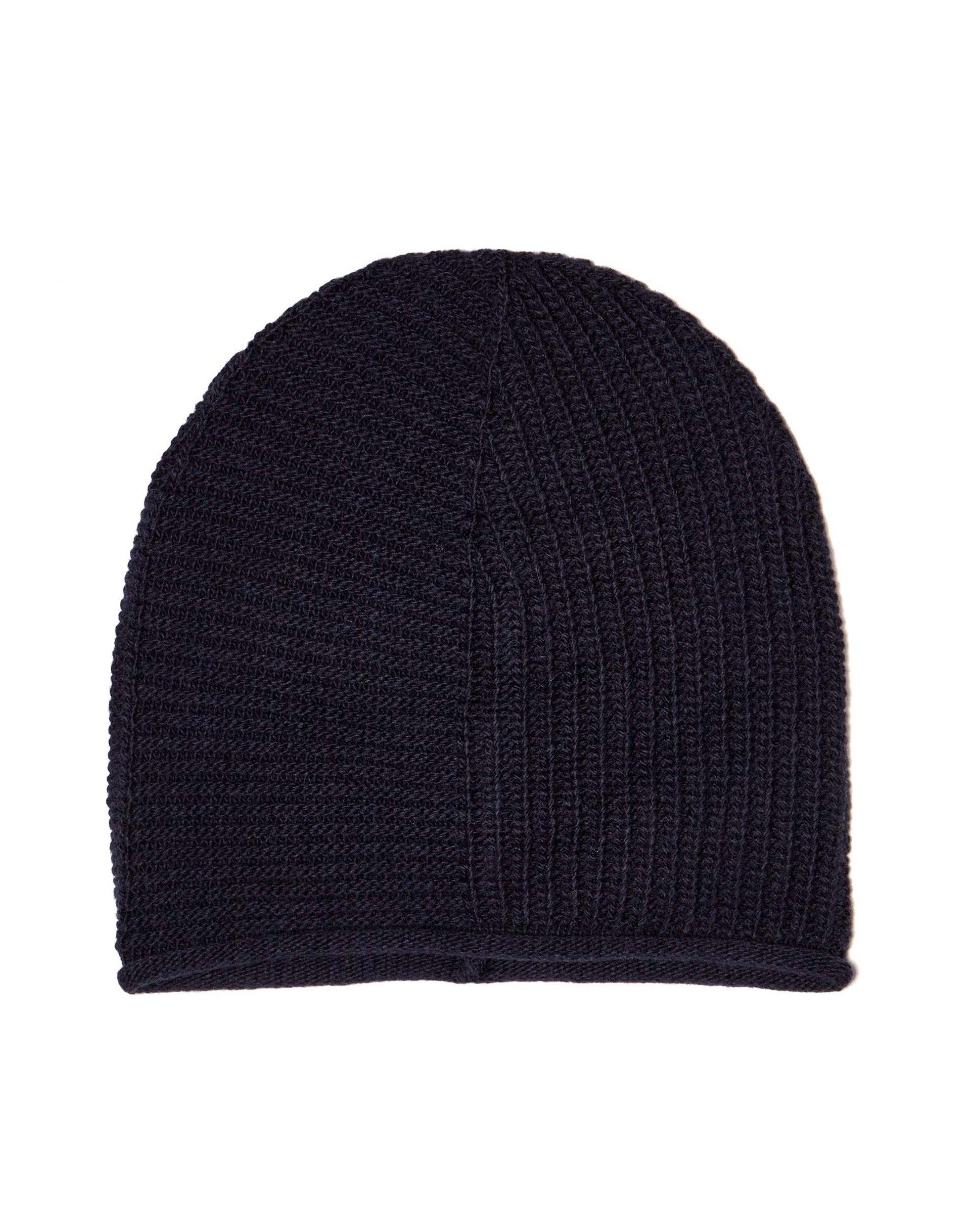ШапкаГоловные уборы<br>Универсальная шапка бини выполнена из мягкой пряжи с шерстью.<br>Цвет: Синий; Размер: OS;