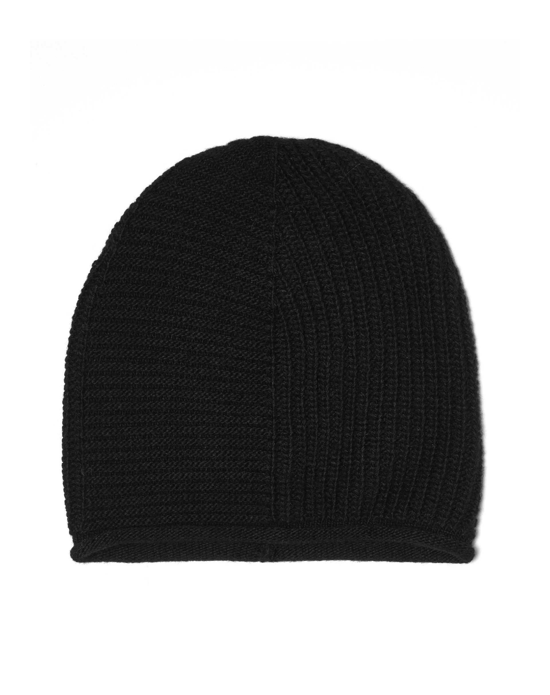 ШапкаГоловные уборы<br>Универсальная шапка бини выполнена из мягкой пряжи с шерстью.<br>Цвет: Черный; Размер: OS;