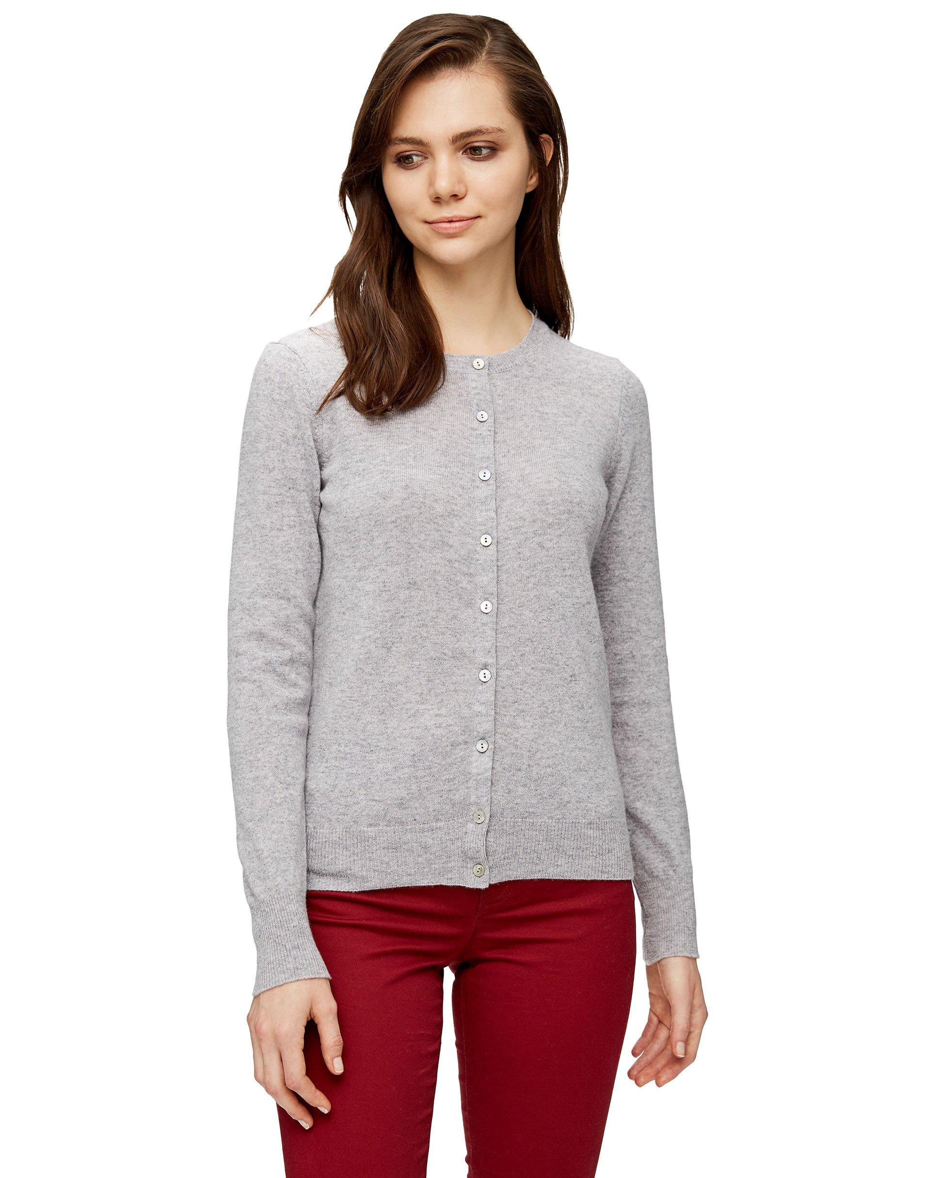 КардиганКардиганы<br>Кардиган с длинным рукавом из 100% шерсти.<br>Цвет: Серый; Размер: XS;