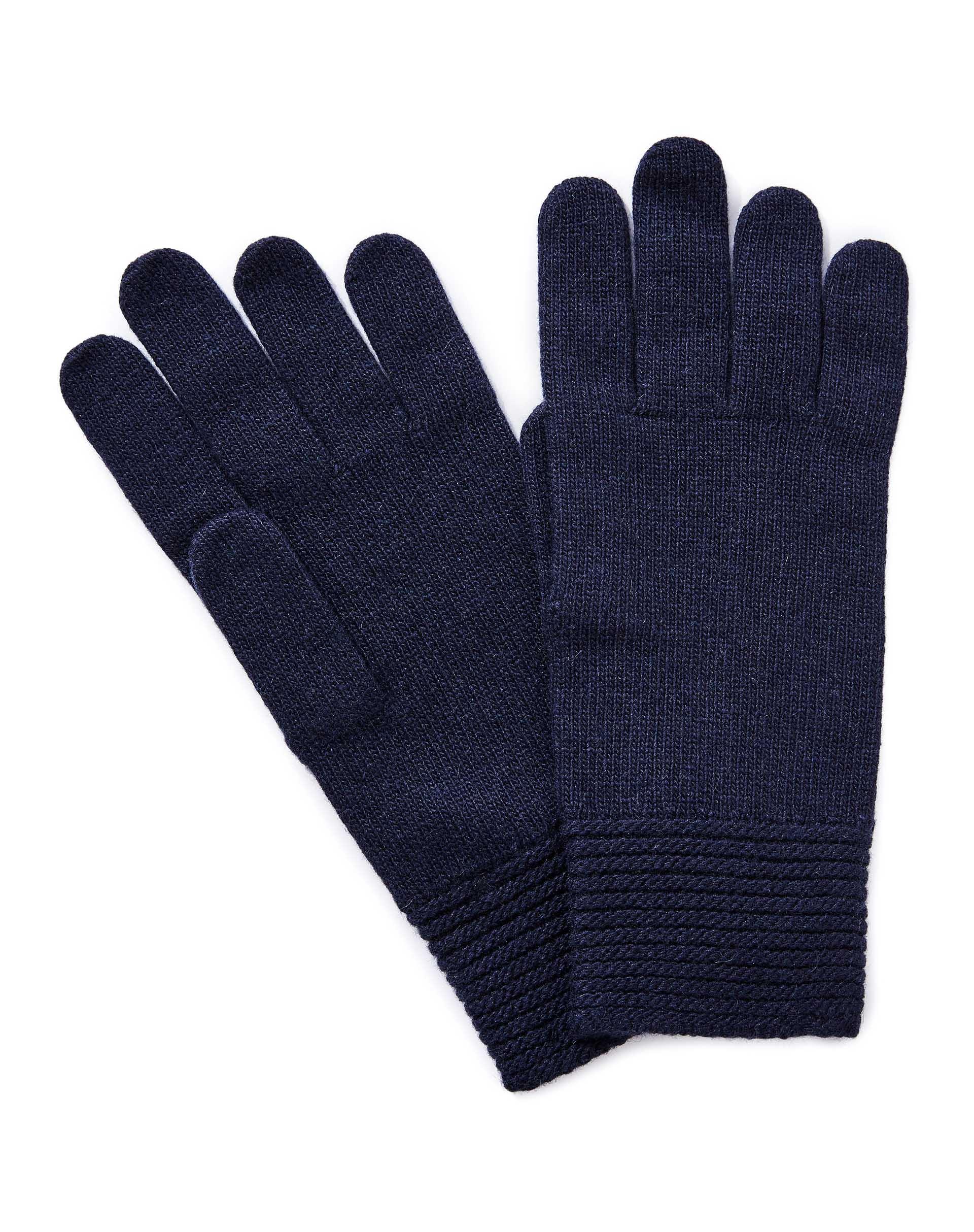 ПерчаткиПерчатки<br>Женские перчатки из полушерстяной пряжи. Высокие эластичные манжеты. Универсальный размер.<br>Цвет: Синий; Размер: OS;