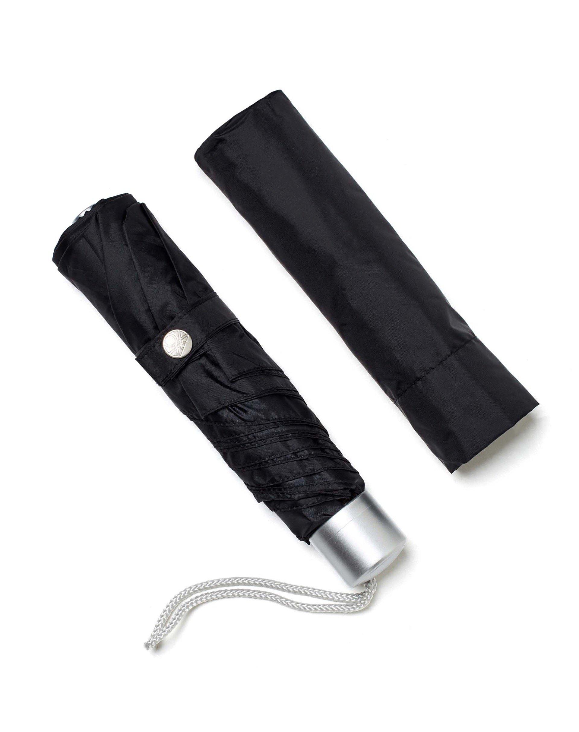 ЗонтЗонты<br>Зонт складной из ткани с рисунком и с чехлом в тон.<br>Цвет: Черный; Размер: ST;