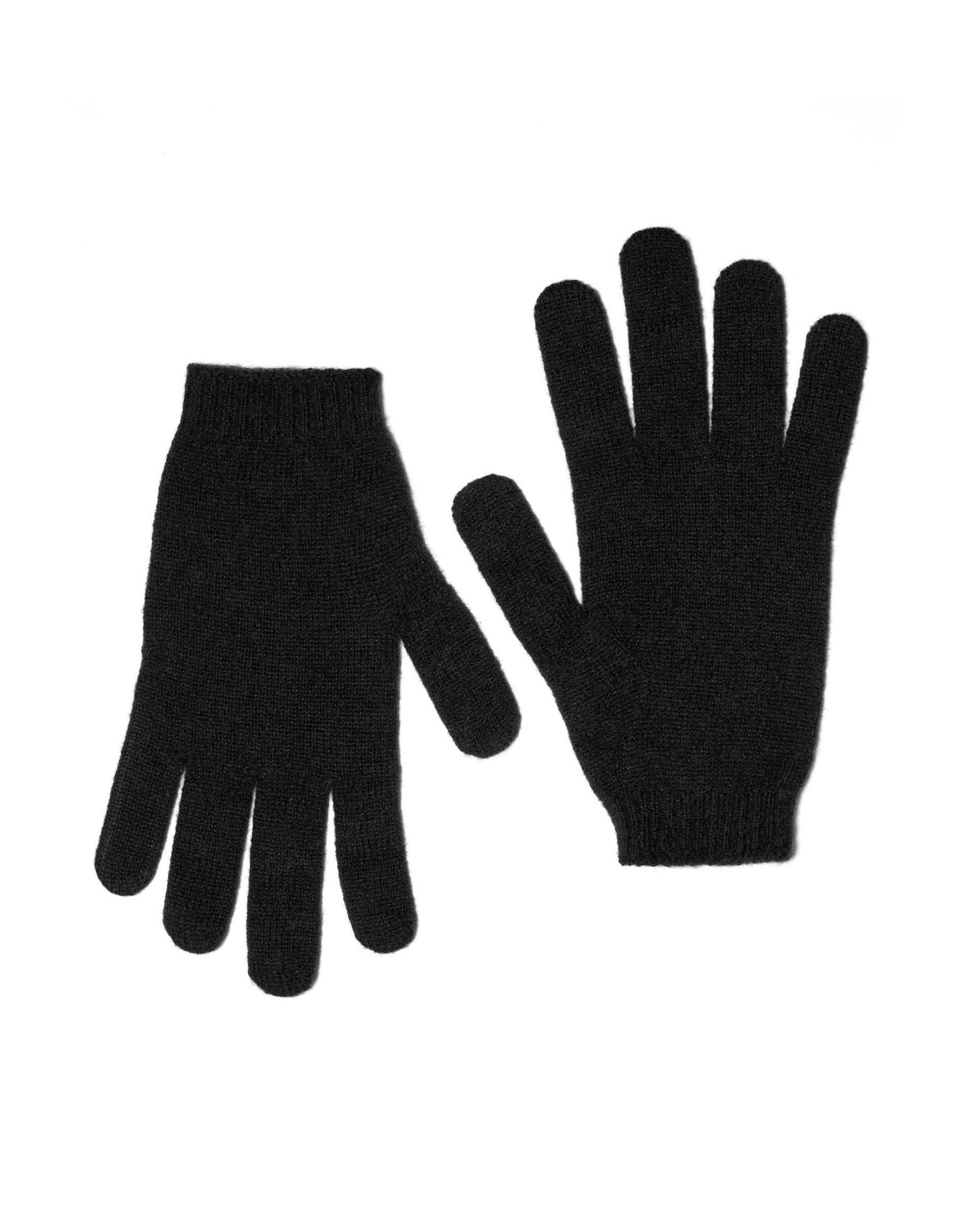 ПерчаткиПерчатки<br>Женские перчатки из пушистого кашемирового трикотажа. Эластичные манжеты. Универсальный размер.<br>Цвет: Черный; Размер: OS;